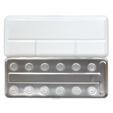 Caja de metal para 12 colores de perlas
