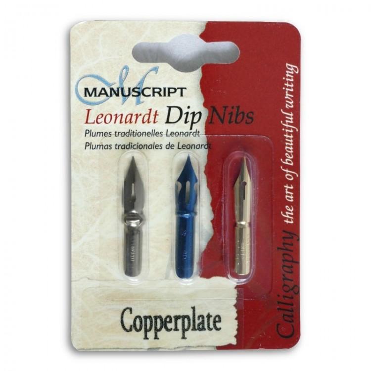Ein Satz von 'Copperplate' Stiftspitzen