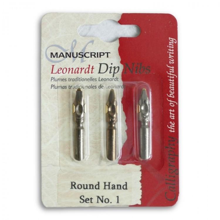 Round Hand nibs - set 1