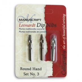Runde Hand Stiftspitzen - Set 3