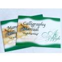 Conjunto de escritura de madera con manuales de caligrafía