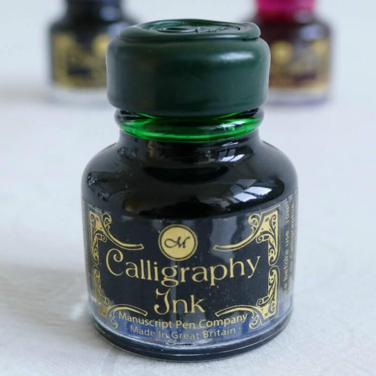 Smaragdgroen kalligrafie inkt