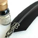Feather Dip Pen, 2 spetsar och bläck