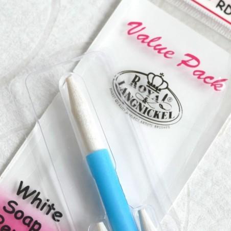 White soap stone pencil set