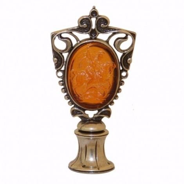 Saint George cameo wax seal set