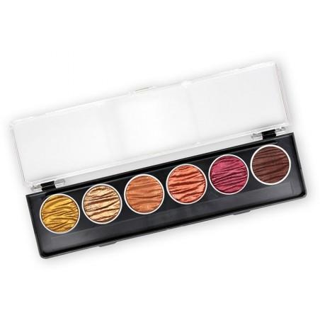 Terra - 6 perle inchiostri a colori pigmentati 30mm