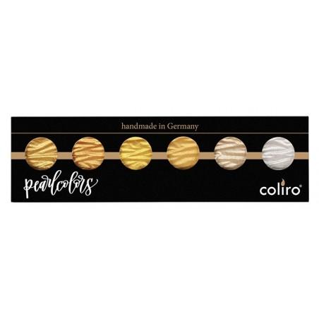 Oro e argento - 6 perle inchiostri a colori pigmentati 30mm