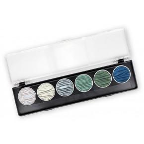 Oceano - 6 perle inchiostri a colori pigmentati 30mm