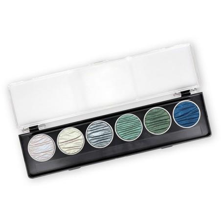 Ocean - 6 pearl colour pigment inks 30mm