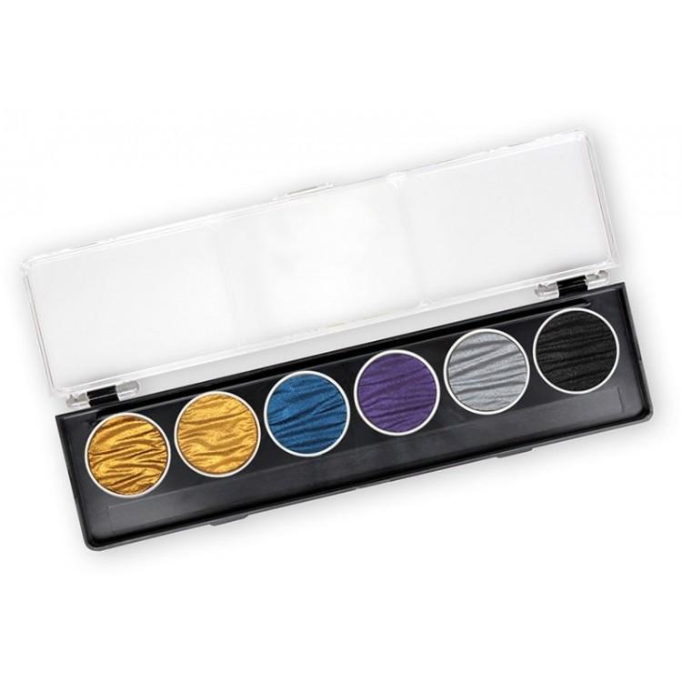 Faraone - 6 perle inchiostri a colori pigmentati 30mm
