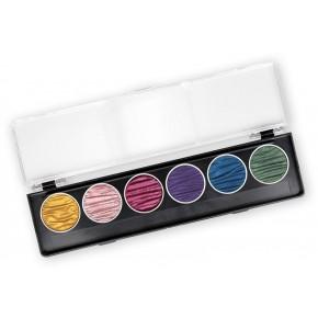 Regenboog - 6 parelkleur pigmentinkten 30mm