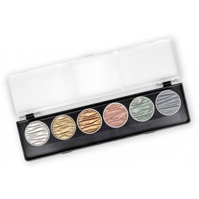 Seta - 6 perle inchiostri a colori pigmentati 30mm