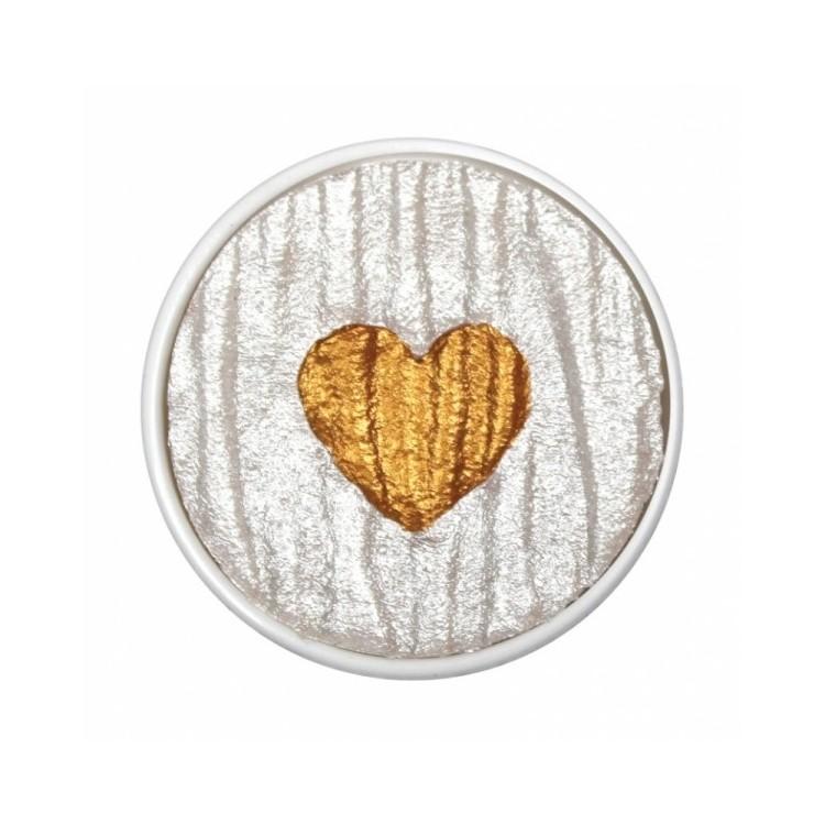 Hart van goud - parel vervanging. Coliro (Finetec)