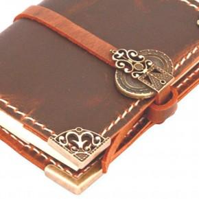 Handmade leather journal 9x13