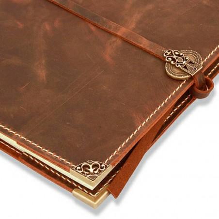 Handmade leather journal 21x30