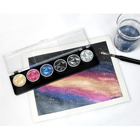 Galaxy - 6 pearl colour pigment inks 30mm