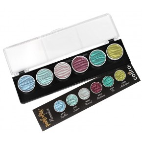 Paradise - 6 perle inchiostri a colori pigmentati 30mm