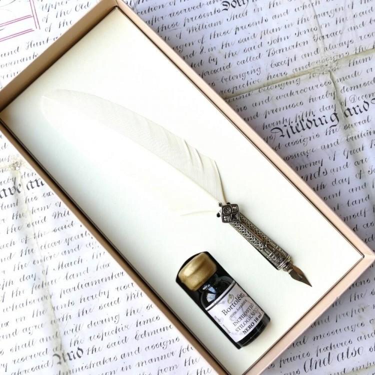 Penna e inchiostro decorati