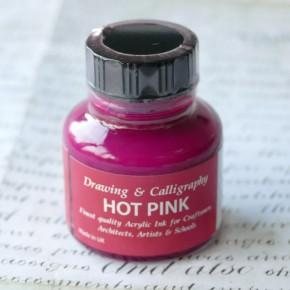 Shock rosa akryltryckfärg