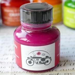 Leuchtend rosa Acrylfarbe