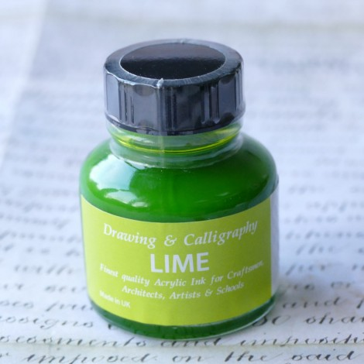 Inchiostro acrilico verde lime