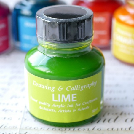 Lime Green Acrylic Ink