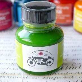 Limegrön akryltryckfärg