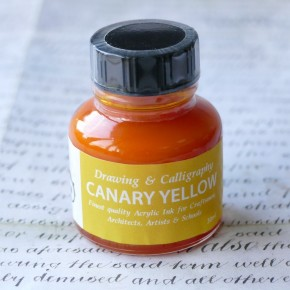 Canary Yellow Acrylic Ink