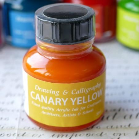 Canary Yellow Acrylic Ink