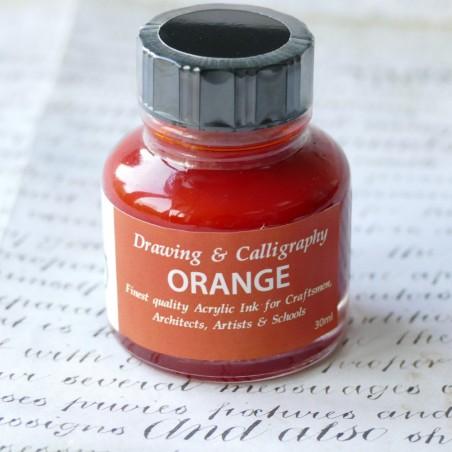 Orange Acrylic Ink