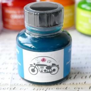 Blauwgroen blauw acrylinkt