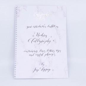 Folleto de caligrafía moderna