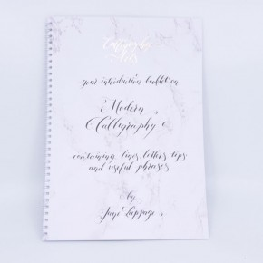 Moderne kalligrafi-pjece