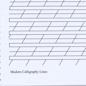 Modernt kalligrafi-broschyr
