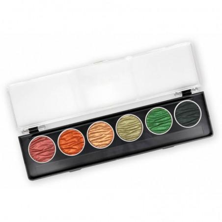 Autumn - 6 perle inchiostri a colori pigmentati 30mm