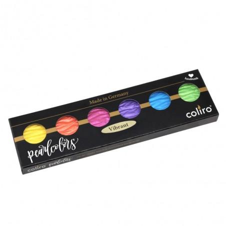 Vibrant - 6 perle inchiostri a colori pigmentati 30mm