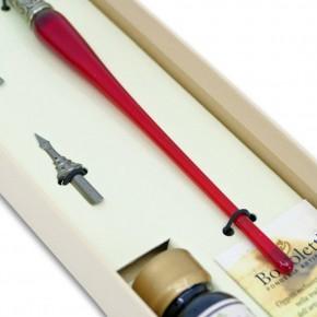 Penna calligrafica in vetro - 9 colori