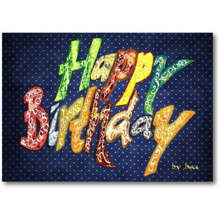 Hyvää syntymäpäivää Yleinen (tumma)