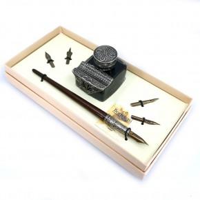 Kalligraphie-Schreibtischset aus Holz - Tiziano