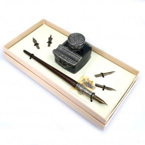 Wooden calligraphy desk set - Tiziano
