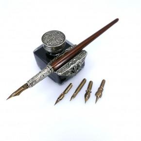 Wooden calligraphy desk set - Tiziano