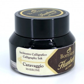 Bruine Italiaanse kalligrafie-inkt - Hamburg Caravaggio