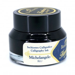 Blue Italian Calligraphy Ink - Hamburg Michelangelo