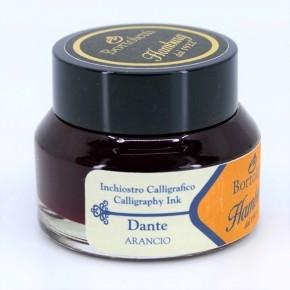 Orangefarbene italienische Kalligraphietinte - Hamburg Dante