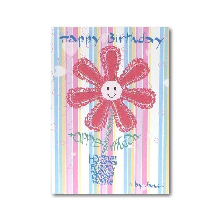 Gelukkige verjaardag - bloem