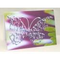 Kromi Perhonen violetti kukka