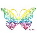 Regnbåge fjärilskort
