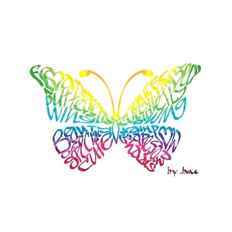 Regenboog Vlinder