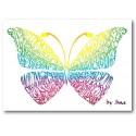 Regnbuen Sommerfugl Kort