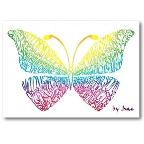 Arcobaleno Farfalla Carta